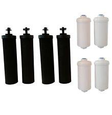 4 Black Berkey & 4 PF-2 Fluoride Filters Big Royal Imperial Crown Travel Light