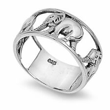 Sterling Silver Elephant Ring- (Size 5-10)