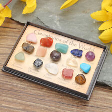 Rock Collection Mix Gems Crystals Natural Mineral Ore Specimens Box Decoration