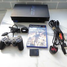 PlayStation 2 with controller memory card Star wars battlefront  tested.