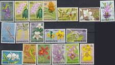 Barbados 1974-77 Orchids Complete Set S-396-411 MNH   - US-Seller