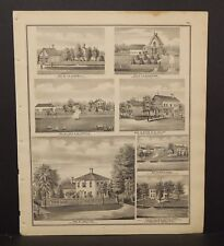 Ohio Portage County Map Res. Lewis Hine, or W.H. Bettes  Engravings 1874 J17#58