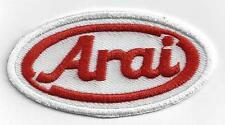 ARAI HELMETS  Iron On Patch 3 inch x 1.5 inch