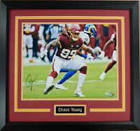 Chase Young Autographed Framed Washington Football Team 16x20 Photo Fanatics COA
