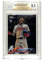 2018 Topps Chrome Update #HMT25 Ronald Acuna Jr rookie RC card BGS 9.5 Braves