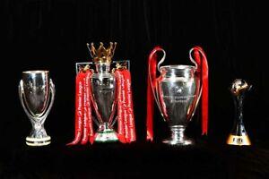 Liverpool FC 4 Trophies Premier League Champions 2020 Photograph Picture