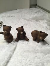 Three Home Interior Little Brown Bears (14-14)