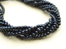 BLACK ONYX NATUREL pierres précieuses Perles Rondes 4 mm fabrication de bijoux (47-50 perles)