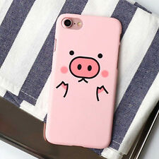 Cartoon Pink Pig Cute Funny Hard Phone Case Cover For iPhone 5/5S 6/6S 7 8 Plus
