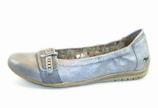 Mustang Womens UK 4 EU 37 Silver Flat Casual Brand New Ballerina Style Shoes