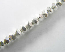 Karen Hill Tribe Silver 30 Faceted Beads 3.5x2.3 mm.