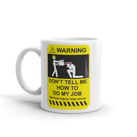 Funny Warning Mug Dad Brother Builder Chainsaw Gift Coffee Tea #4955