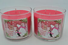 2 New BATH & BODY WORKS WINTER CANDY APPLE SCENTED CANDLE 14.5 oz 3 wick