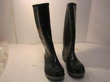 Pull On Waterproof Knee High Rubber Boots, Steel Toe, Men's Size 8