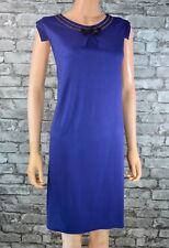 Women's Blue Sleeveless Stretch Tunic T-shirt Party Dress Size 8 - 10    *Eu 36