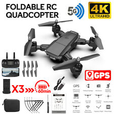 5G 4K GPS Quadrocopter WIFI Selfie FPV Drohne RC Faltbar Drone mit 3 Batterien