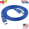 60cm 2ft Data Transfer USB 3.0 Male to Male Extension Mining Rig Cable Cord Blue