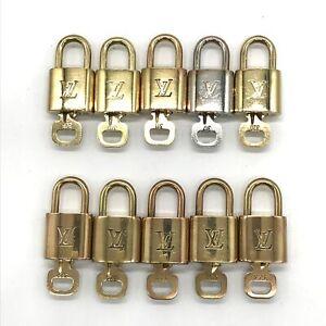 100% Authentic Louis Vuitton Set of 10 Lock & Key Cadena Brass [Used] {05-431C}