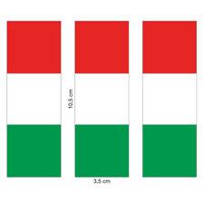3x Aufkleber Flagge Italien (Vespa, Motorrad, Auto, 10,5 cm)