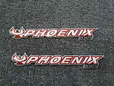 "PAIR (2) PHOENIX boats 8"" DECALS  bass fishing"