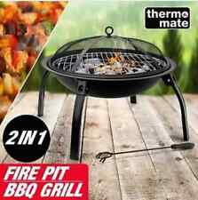 """22"""""""" Outdoor Fire Pit BBQ Grill-Portable Foldable Fireplace Camping Patio Heater"""