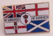 no surrender lapel badge england scotland northern ireland union jack loyalist
