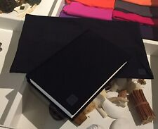 Pack of 5 BLACK Fabric BOOK COVERS Stretchable Reusable 9 x 11 Jumbo Made in USA