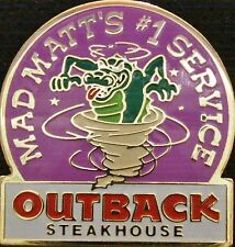 A3015 Outback Steakhouse hat lapel pin Mad Matts #1 Service - Croc in Tornado