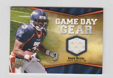 Eddie Royal Broncos 2009 UD Game Day Gear Patch #NFL-ER