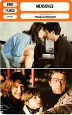 FICHE CINEMA : MENSONGE - Baye,Sandre,Margolin 1993 The Lie