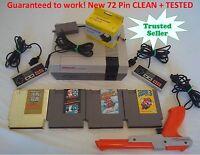 Nintendo NES ORIGINAL Console Bundle NEW PIN Super Mario Bros 1 2 3 GOLD ZELDA