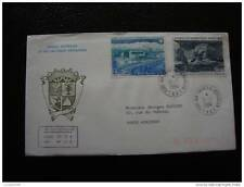 TAAF carta 21/7/84 - sello stamp - yvert y aire de tellier nº79 80 (cy8)