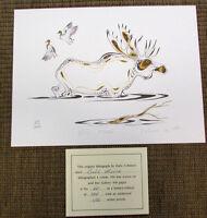 EDDY COBINESS 4-Color Lithograph Art BULL MOOSE 60/400 Signed Ltd Edition V51B
