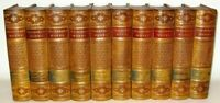 LEATHER Set; WORKS THACKERAY! INTRICATE CALF DICKENS COMPLETE SET! ORIGINAL 1882