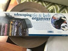 New Perfect Solutions Telescoping Tie & Belt Organizer Holds Up Go 60 Ties