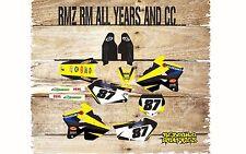 Suzuki RM H. 65 85 125 250 450 Kit De Gráficos Pegatinas DE MOTOCROSS calcomanías Motocross