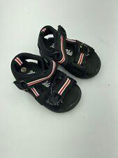 Koala Kids Black Red Size 3 Toddler Sandals Hook & Loop