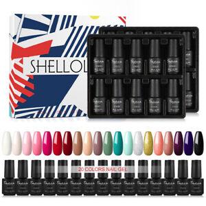 Gellack UV Nagellack 20 Farben Farbgel Gelnägel 7ml Set Soak Off für Maniküre