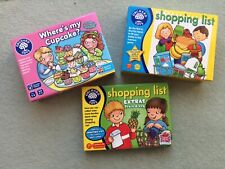 Orchard Games - Educational Games x 3, Shopping List plus