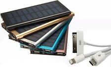 2usb POWER BANK solare carica BATTERIA ESTERNA 100000mAh  portatile SOTTILE CAVO