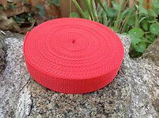 Red 25mm 1 inch Polypropylene Webbing Tape x 10 Meters