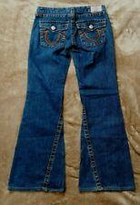 *Womens HOT TRUE RELIGION JOEY RAINBOW FLARE BOOTCUT DARK Jeans 30 x 32