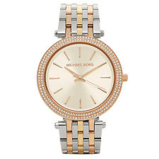 MICHAEL KORS MK3203 DARCI SILVER DIAL TRI-TONE LADIES WATCH - RRP £199