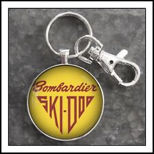 Vintage Bombardier SkiDoo Emblem Photo Keychain Snowmobile Gift 🎁