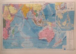 The Indian Ocean-Communications, 1952, Mercantile Marine Atlas, Philip