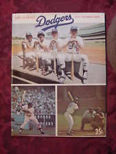 Los Angeles Dodgers 1974 Scorecard Major League Baseball Program