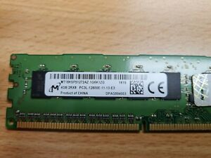 Micron 4GB 1600MHz DDR3 PC3-12800 ECC DIMM Server  RAM - MT18KSF51272AZ-1G6K1ZG