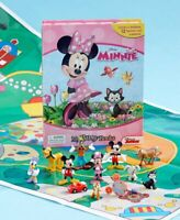 BEAUTIFUL DISNEY MINNIE MOUSE-MY BUSY BOOKS-STORYBOOK PLAYMAT & 12 FIGURES NEW