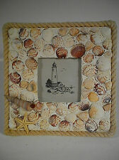 Sea Shell Picture Photo Frame 2.5 x 2.5 Opening Vacation Memories New Great Gift