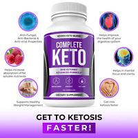 Complete Keto Weight Loss Diet Pills Fat Burner Supplement for Men Women 60ct